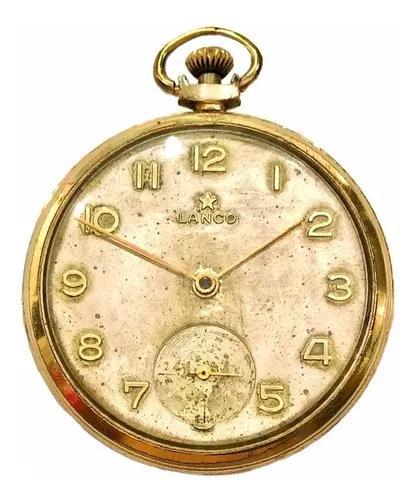 Antigo Relógio De Bolso Suíço Grife Lanco Estrela Dourada
