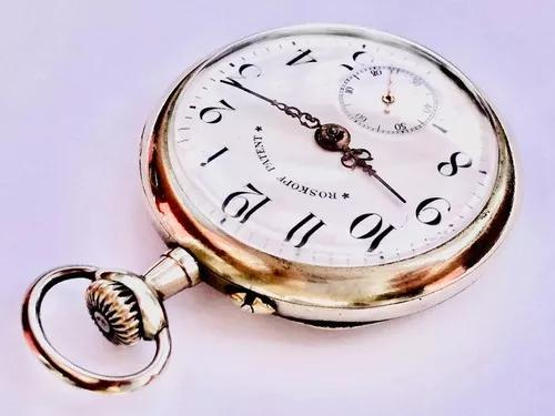 Raro Relógio De Bolso Suíço Grife Roskopf Patent