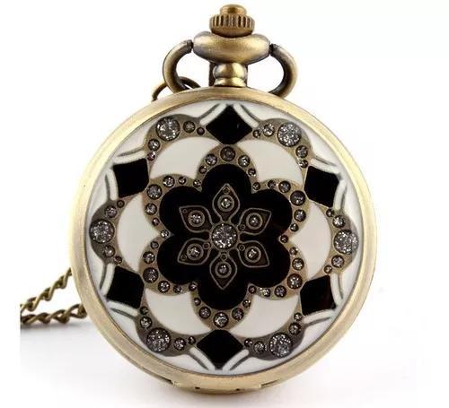 Relógio De Bolso Pai Sho Flor De Lótus Japonesa Quartzo