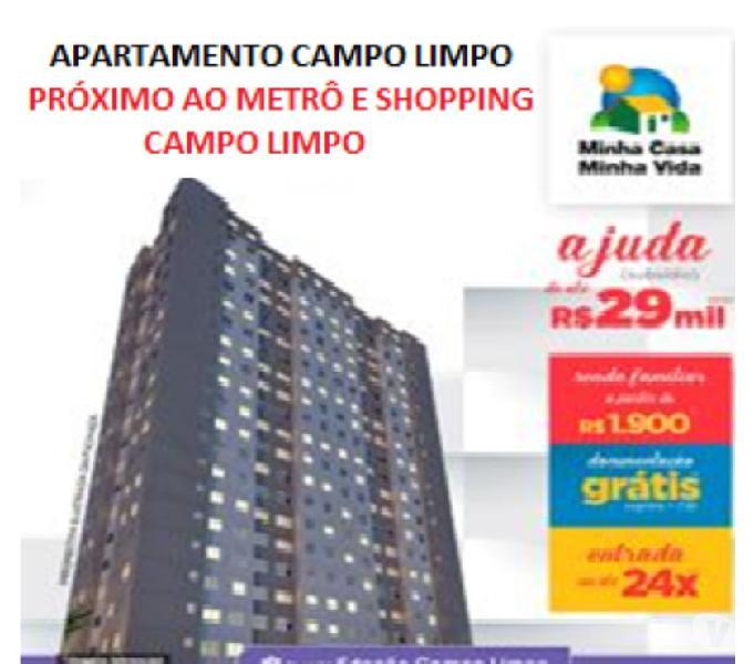 Apartamento no Campo Limpo próximo ao Metrô 2 dormitórios