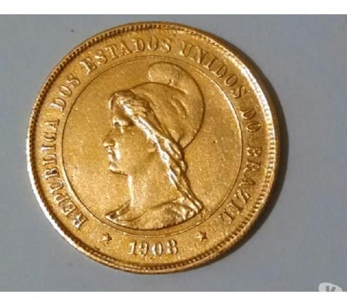 COMPRO MOEDAS DE OURO ANTERIORES AO ANO 1921 PAGO R$700,00