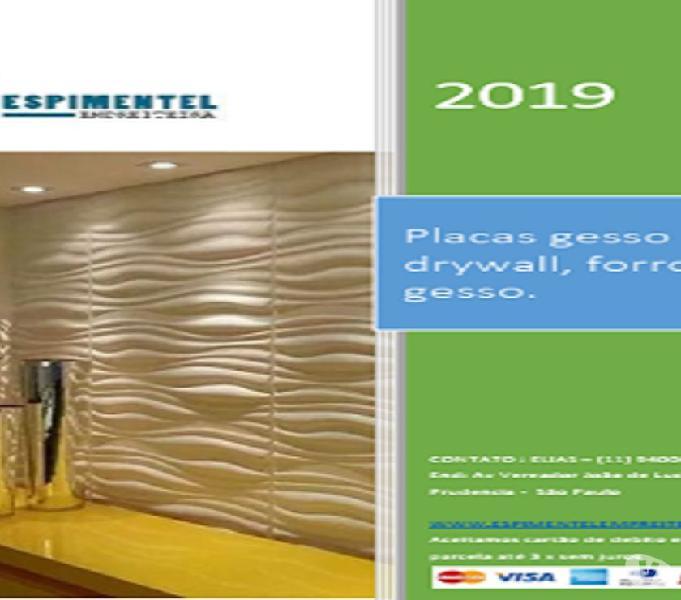 ES Pimentel Gesso 3D decorativo e serviços em gesso geral.