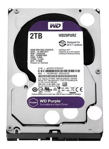 Hd Dvr Cftv 2 Tb Western Digital Purple Wd20purz