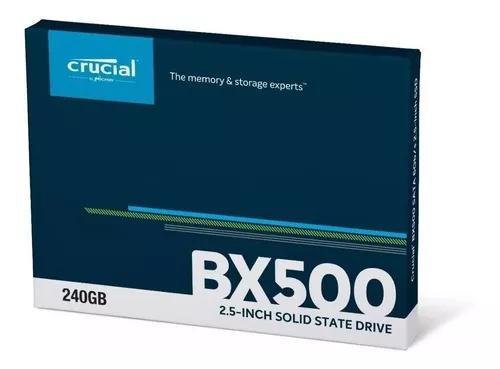 Hd Ssd 240gb Crucial Bx500 2,5 Sata Ct240bx500ssd1 Novo