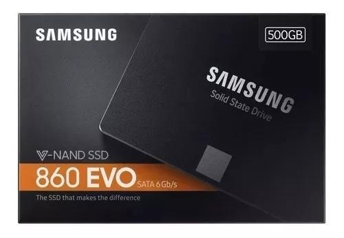Ssd Samsung 860 Evo 500gb Sata 3 6gbs 2,5 550mb/s Lacrado