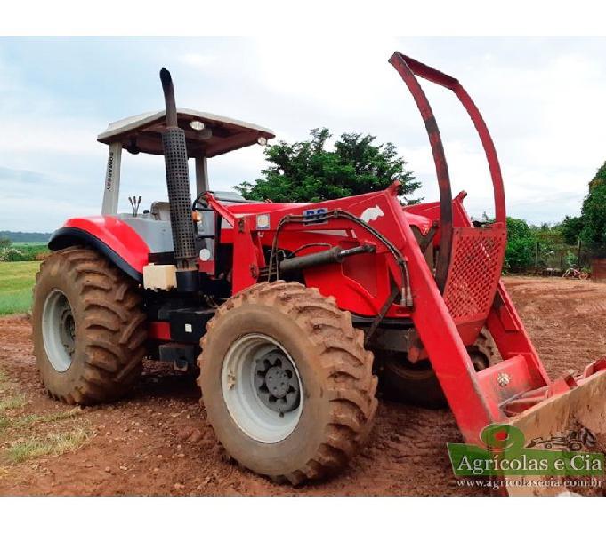 Trator Massey Ferguson 7140 4x4 Lamina Concha e Enleirador!