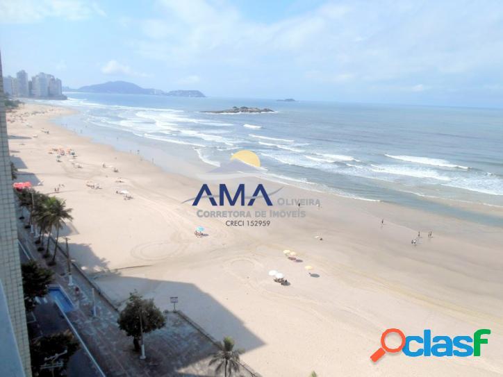 Apartamento Frente ao Mar na Praia da Pitangueiras, 1 vaga