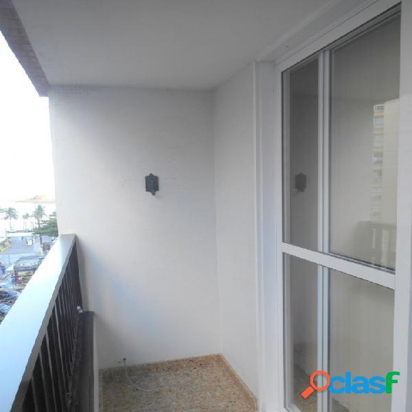Calçadão Pitangueiras, vista p/o mar 2 dormitórios com