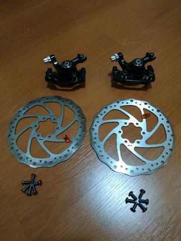 Kit freio a disco mecânico + rotor 160mm