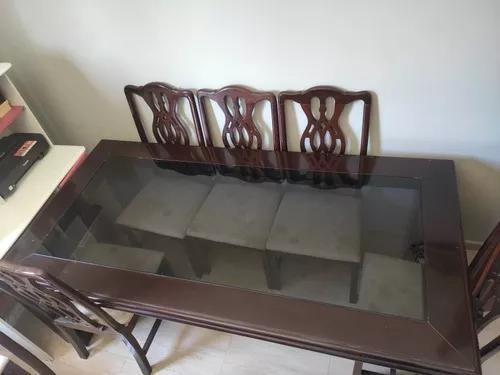Mesa De Madeira Maciça De 08 Cadeiras