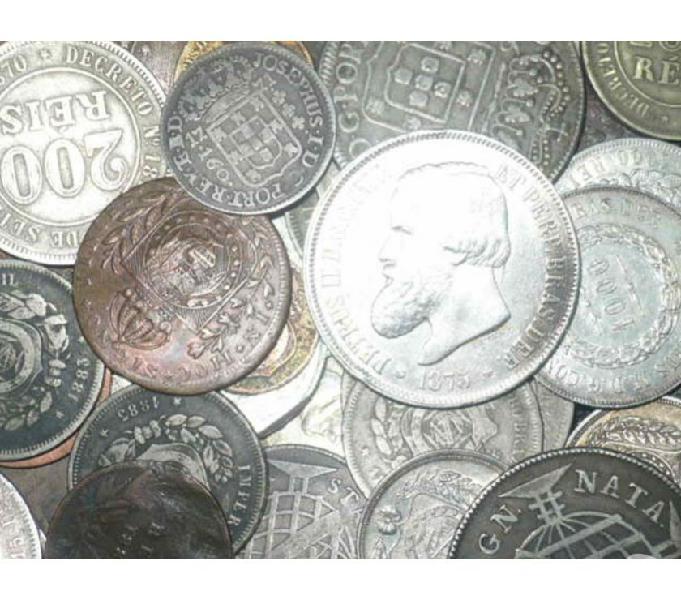 VENDO 10 QUILOS DE MOEDAS DE 1700 ATÉ 1901 R$13.000