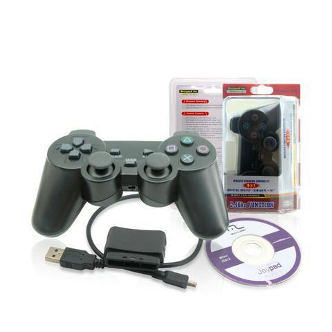 Controle Sem Fio 4 em 1 PlayStation 1/2/3 E PC (NOVO)