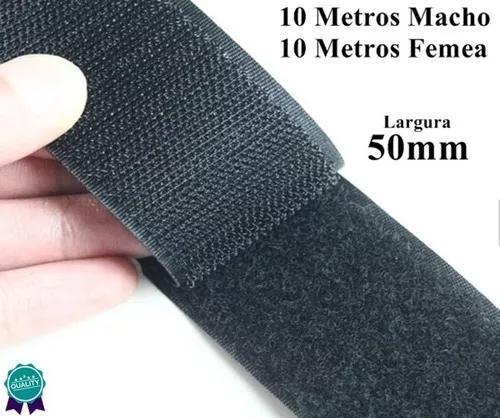 Kit Velcro Fita Laço Confecção 50mm 10m Artesanato Roupas