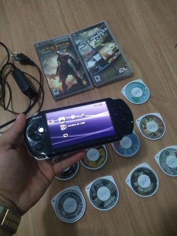 PSP 3001 vários jogos originais completo