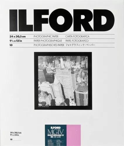 Papel Fotográfico Ilford 24x30cm - 10 Folhas (brilhante)