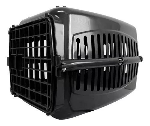 Caixa De Transporte Preta Para Gatos Coelho Cão Pequeno