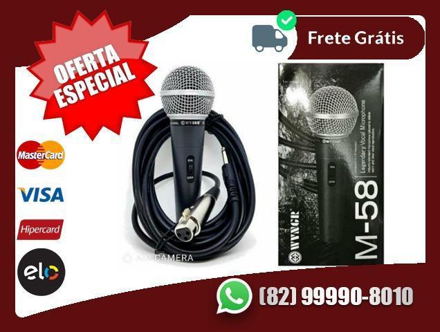 Microfone Profissional M58 + Cabo