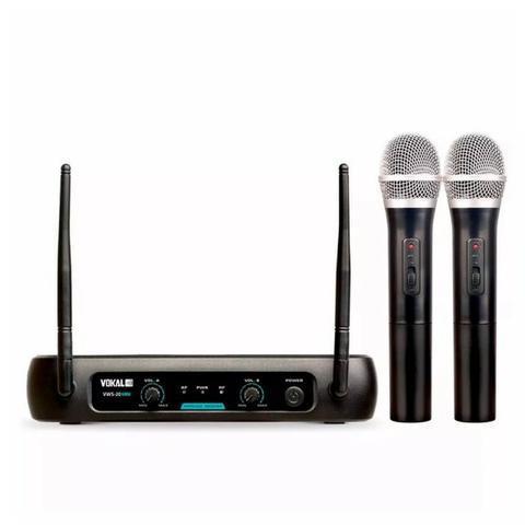 Microfone Sem Fio Duplo VWS-20 Plus Bivolt - Vokal