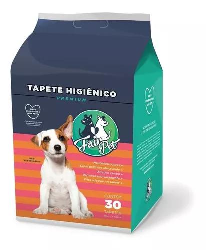 Tapete Higiênico Para Cães C/ 30 Unidades 80x60cm -