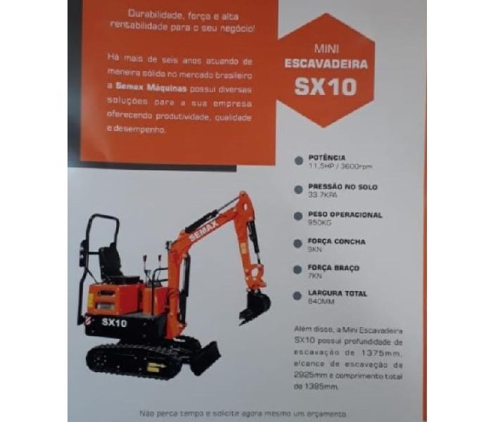 Vendo Mini escavadeira Semax Sx10