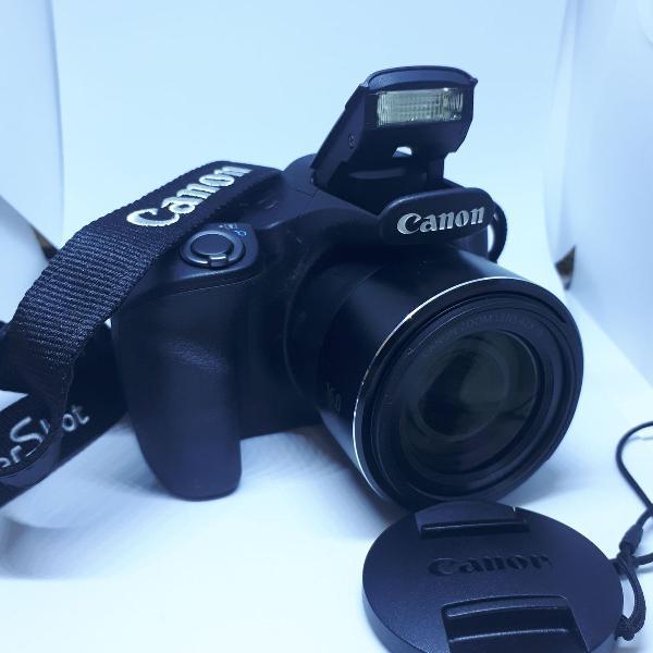 canon powershot sx520 hs com card de memória e case