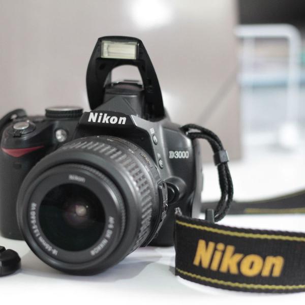 câmera nikon d 3000