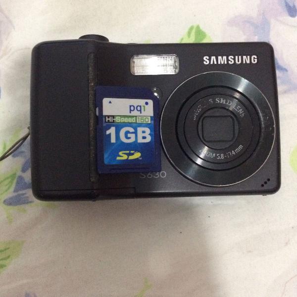câmera samsung s630 + cartão de memória 1 gb