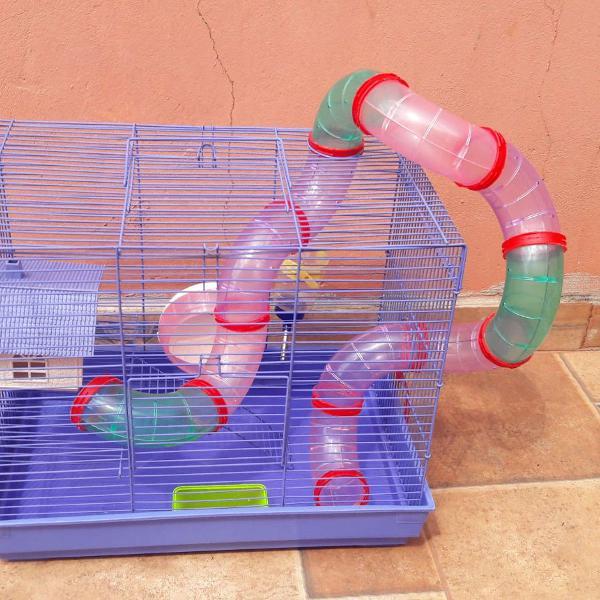 gaiola para hamsters e pequenos roedores