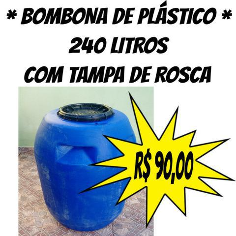 Bombona / Tonel / Tambor / Reservatório Com Tampa 240
