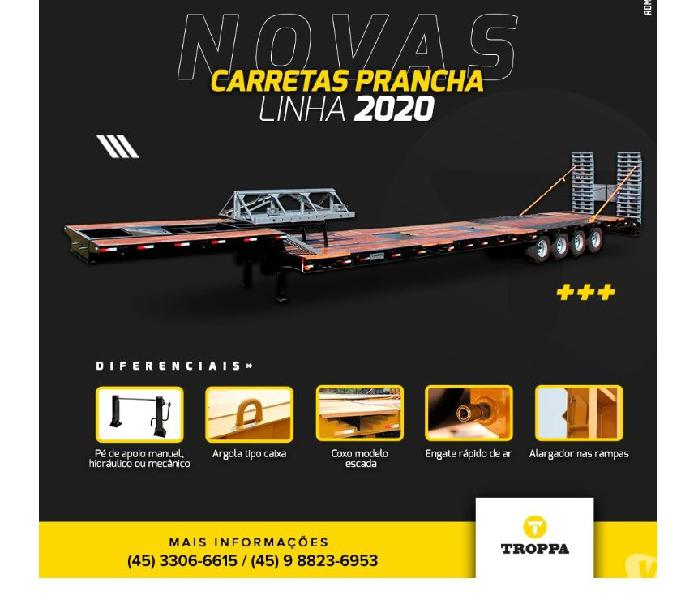 CARRETA PRANCHA 04 EIXOS AGRÍCOLA