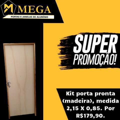 Super promoção! Kit porta pronta. (Madeira)