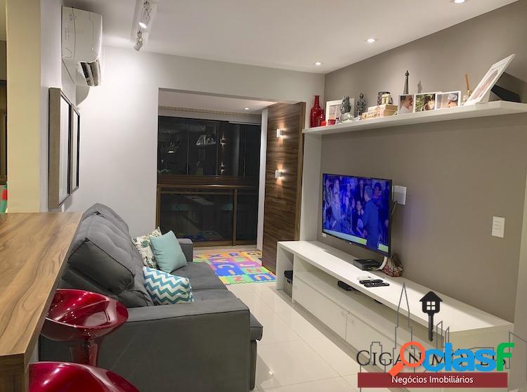 Villas da Barra - 2Qts(1suíte) - Decorado - 66m² - Sol