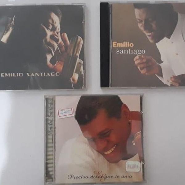 cd original emilio santiago - lote com 3 cds