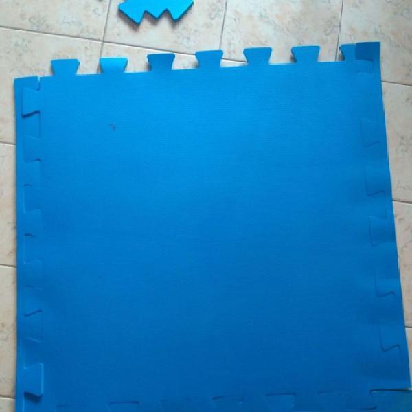 Tapete tatame de encaixe azul
