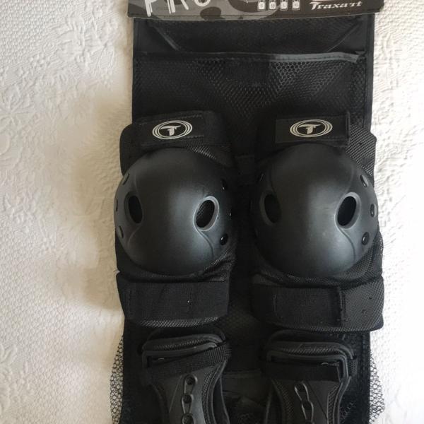 kit de protetores para patins os skate tam M