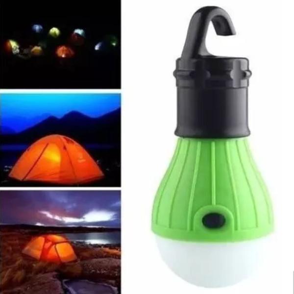 lampada de led para barraca camping gancho suspensão