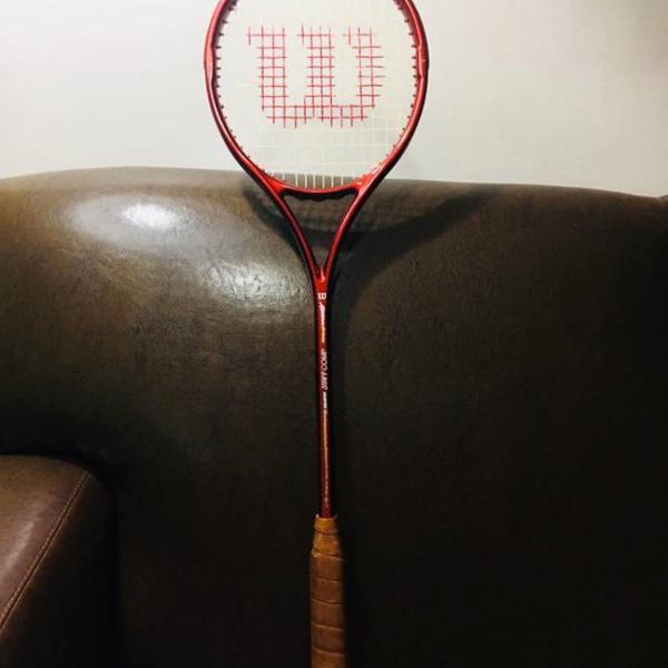 raquete squash wilson antiga