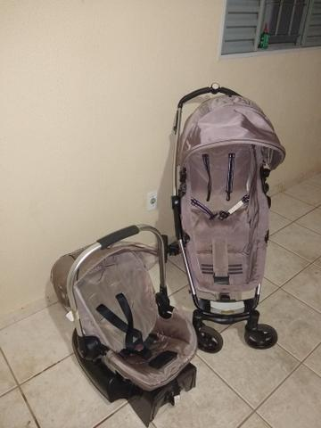 Carrinho + bebê conforto + moises kiddo