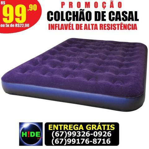 Colchão de casal inflável alta resistência (entrega