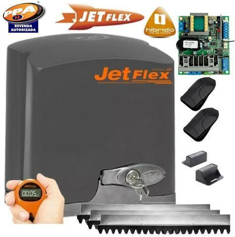 Motor de portao jet flex 04 segundos instalado