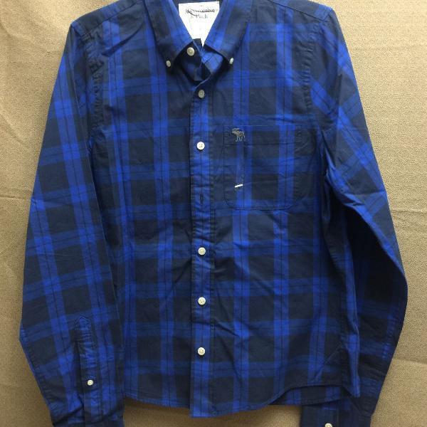 camisa xadrez masculina importada original - abercrombie