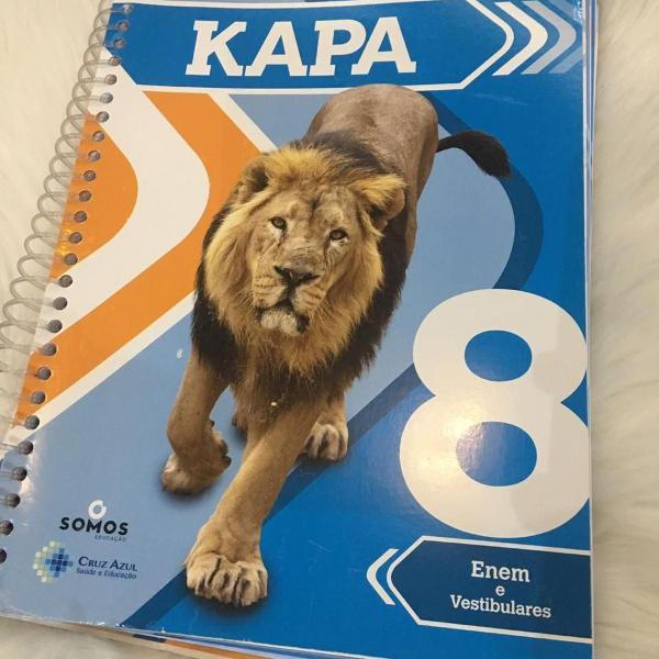 livro e caderno de exercícios enem e vestibulares