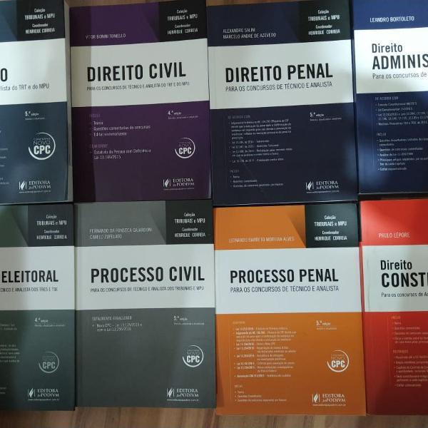 coleção de livros de revisão para concurso trf novo