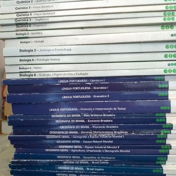 livros pré vestibular completo sistema coc