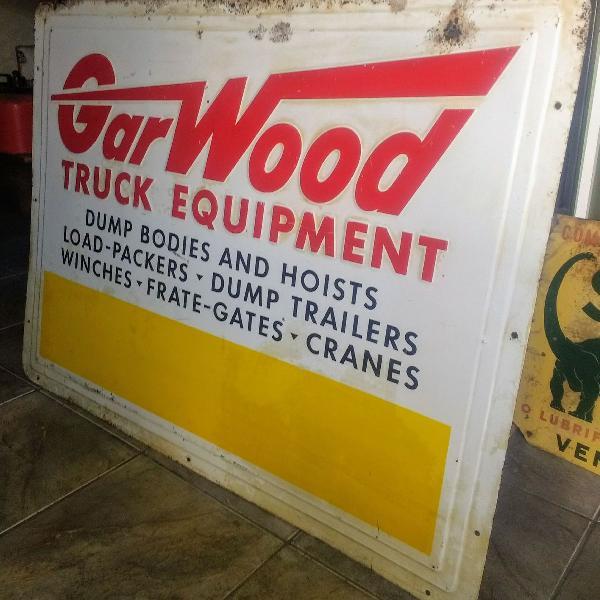 placa antiga anos 50 original garwood trucks