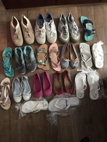 IMPERDÍVEL: Lote com 19 calçados variados masculino e