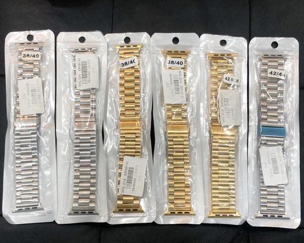Pulseiras de aço inoxidável Apple Watch e IWO