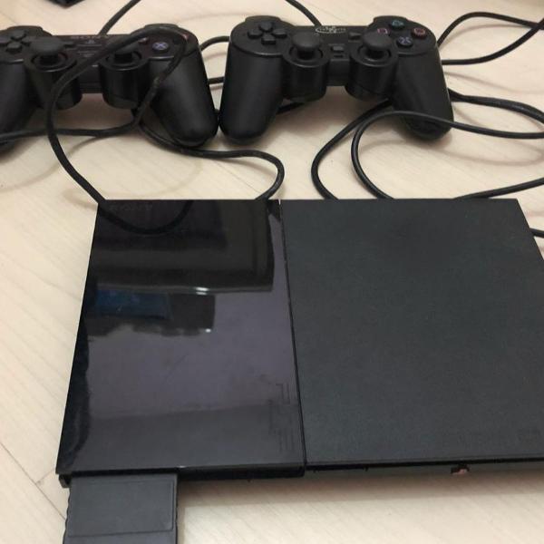 playstation 2 slim com jogos
