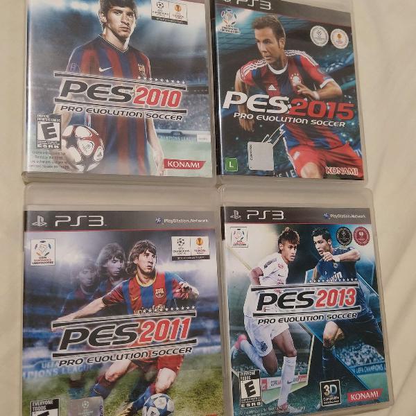 Kit 4 jogos PES ( 2010/2011/2013/2015)