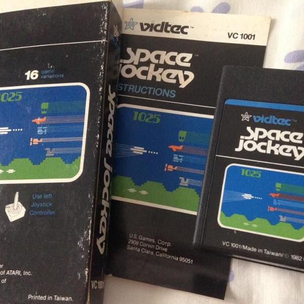 atari cartucho space jockey original completo 1982 vidtec